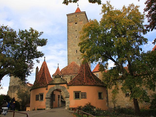Burg Rothenburg ob der Tauber in Bayern
