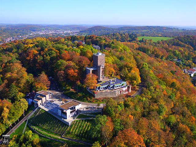 Burg Turmberg, Hohenberg, Grötzingen, Durlach in Baden-Württemberg