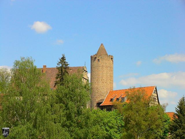 Burgenstadt Schlitz - Ältester Bau der Hinterburg ist der Bergfried. Er wird Hinterturm genannt.