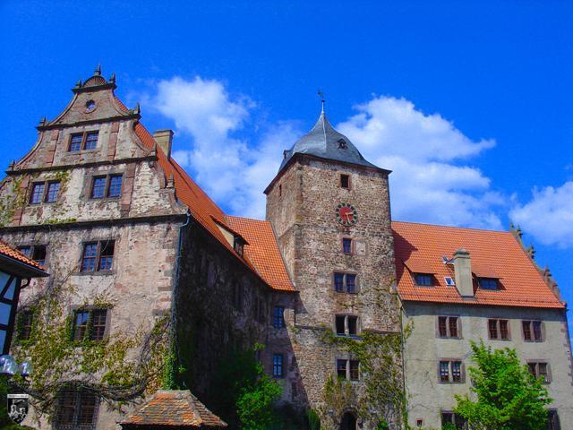 Burgenstadt Schlitz - Deutlich erkennt man den barocken Einfluss auf die Vorderburg von Schlitz.