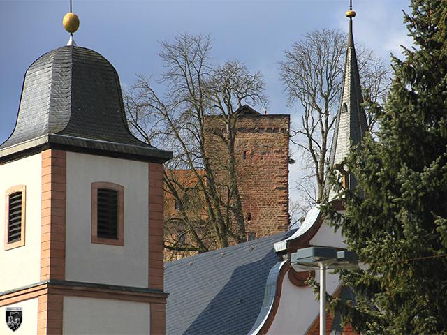 Burg Neckarsteinach, Vorderburg in Hessen