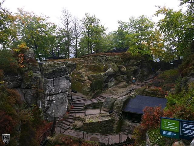 Felsenburg Neurathen an der Bastei, Rathen in Sachsen