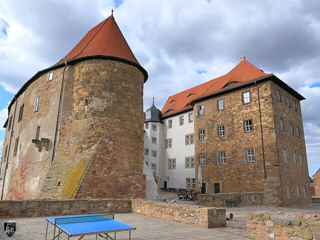 Festung Heldrungen - Die einzigen Wohngebäude der Festung lagen im Zentrum. Sie gehen auf die mittelalterliche Burg zurück.