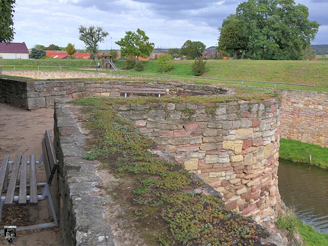 Festung Heldrungen - Die Rondelle sind heute noch gut zu erkennen. Es gab fünf von ihnen, die Festung Heldrungen in alle Richtungen schützten.