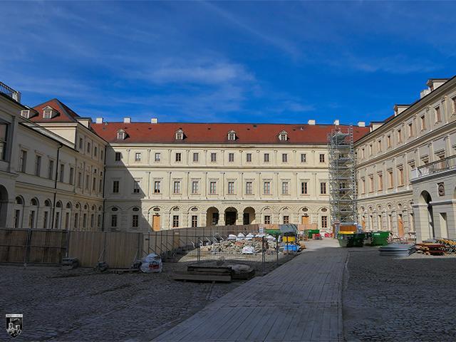 Das Stadtschloss Weimar steht heute größtenteils auf den Resten der Wilhelmsburg.