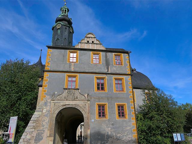 Vor dem Torhaus der Bastille lagen eine Zugbrücke und ein Wassergraben, der von der Ilm gespeist wurde.