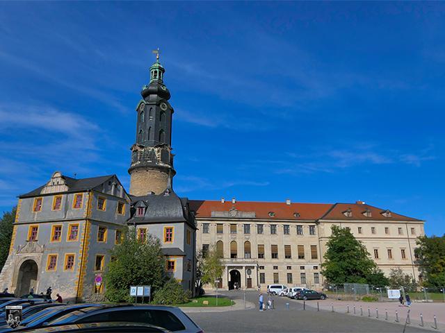 Heute bilden Stadtschloss Weimar und die Reste der Burg Hornstein ein interessantes Ensemble.