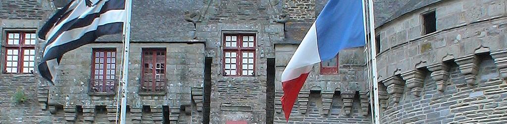 Karte der Burgen in Bretagne