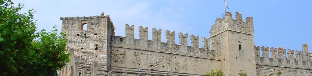 Karte der Burgen in Venetien